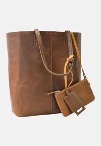 Gusti Leder - Tote bag - brown - 4