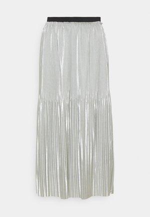 JDYSTONE PLISSE SKIRT - A-line skirt - silver