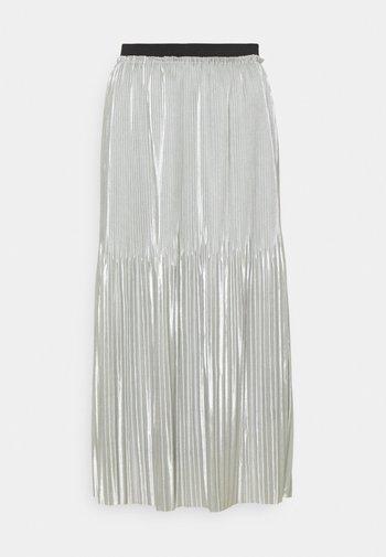 JDYSTONE PLISSE SKIRT - Áčková sukně - silver