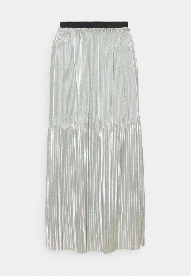 JDYSTONE PLISSE SKIRT - Spódnica trapezowa - silver