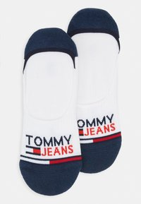 Tommy Jeans - UNISEX NO SHOW MID CUT 2 PACK - Trainer socks - white - 0