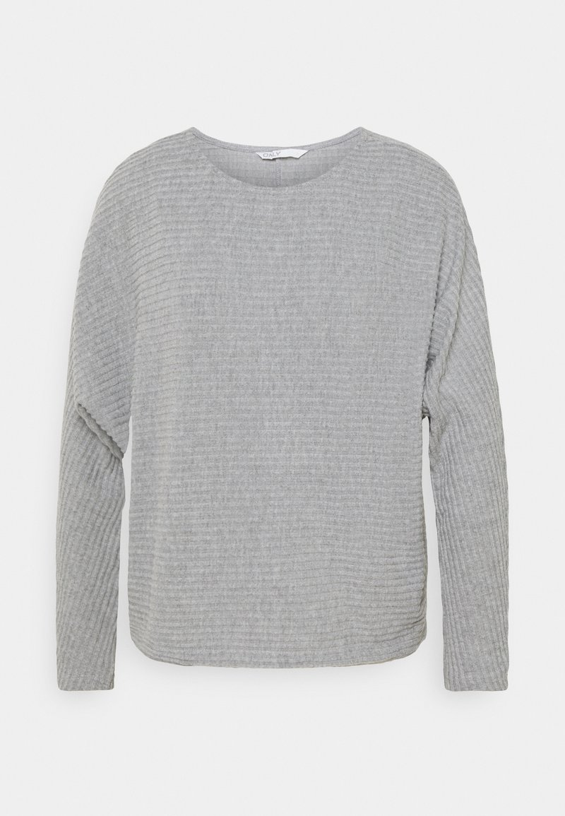 ONLY - ONLNAJA BATSLEEVE - Strickpullover - medium grey melange
