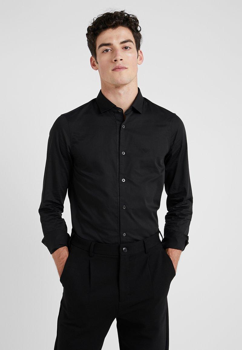 Emporio Armani - CAMICIA SLIM FIT - Camisa elegante - nero