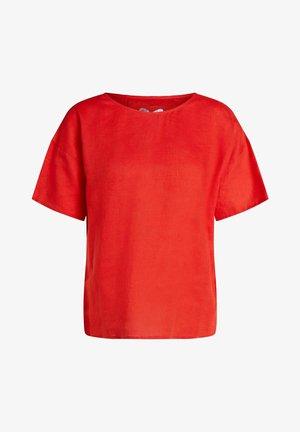 Blouse - fiery red