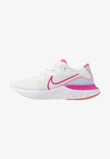 RENEW RUN - Zapatillas de running neutras - summit white/ember glow/hydrogen blue/fire pink/white/