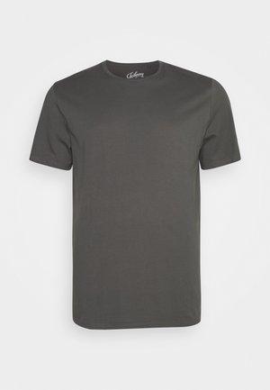 ESSENTIAL LONGLINE SCOOP TEE - T-shirt - bas - khaki