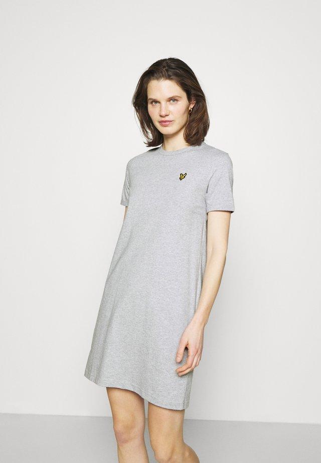 DRESS - Sukienka z dżerseju - light grey marl