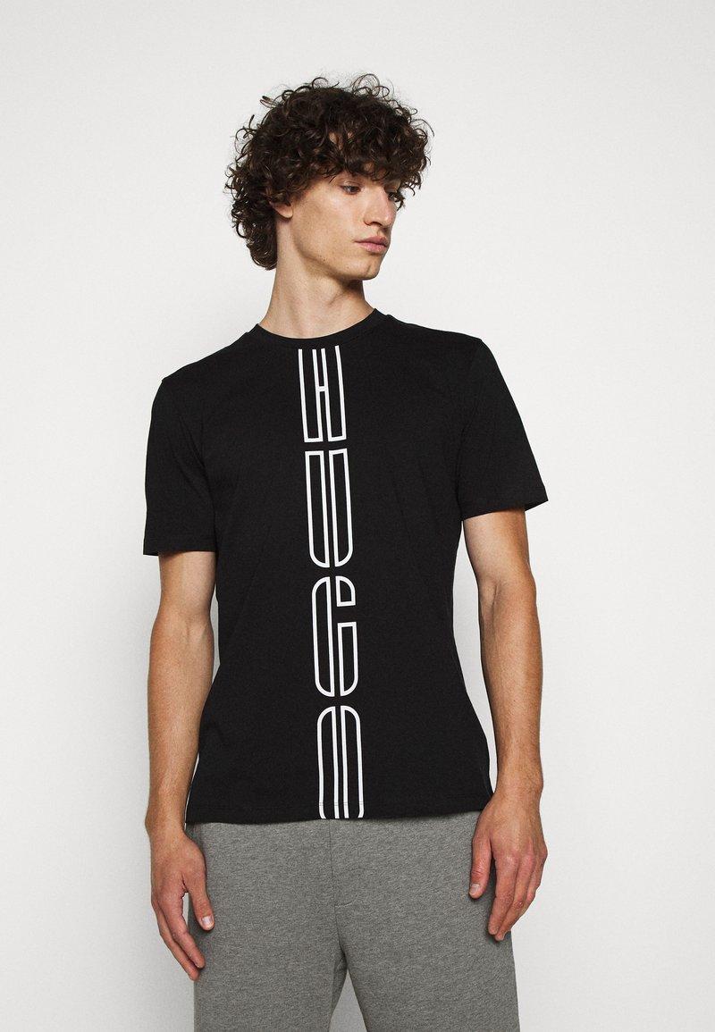 HUGO - DARLON - T-shirt z nadrukiem - black