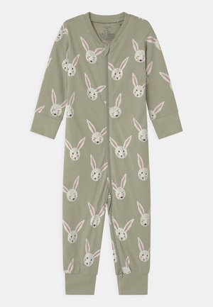 RABBIT FACES UNISEX - Pyjamas - dusty green