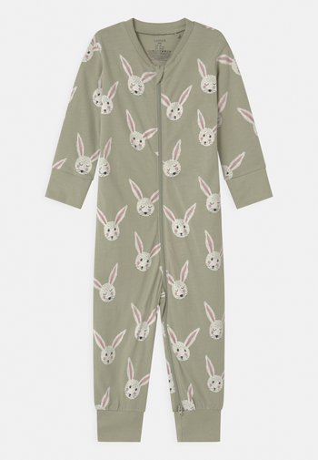 RABBIT FACES UNISEX - Pyjamas - dusty green