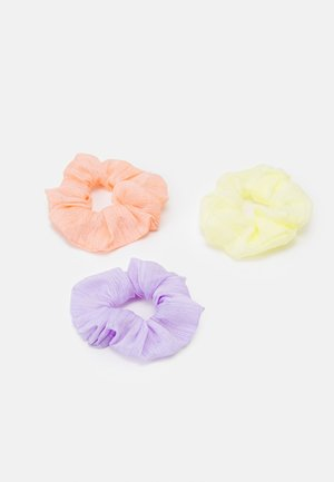 SCRUNCHIE 3 PACK - Hair Styling Accessory - purple heather/yellow/coral
