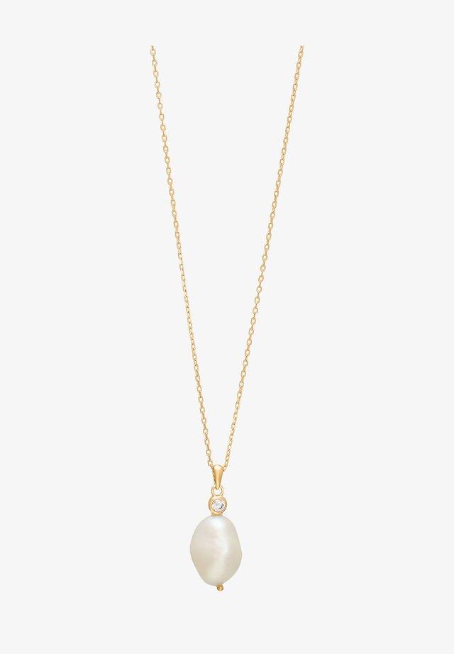 MIT SÜSSWASSERPERLE  - Necklace - gold
