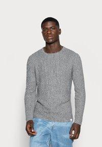Only & Sons - ONSSATO  - Stickad tröja - light grey melange - 0