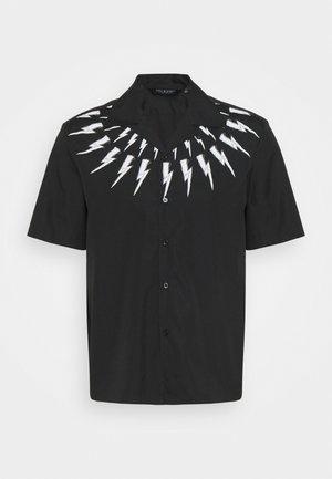 FAIR ISLE THUNDERBOLT PRINT HAWAIIAN - Košile - black/white