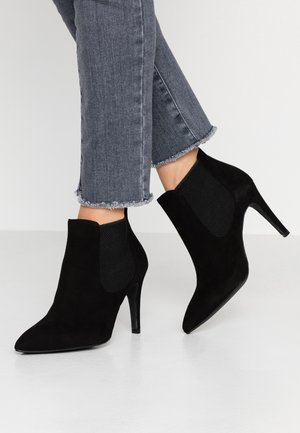 WIDE FIT DIANBO - Kotníková obuv na vysokém podpatku - black