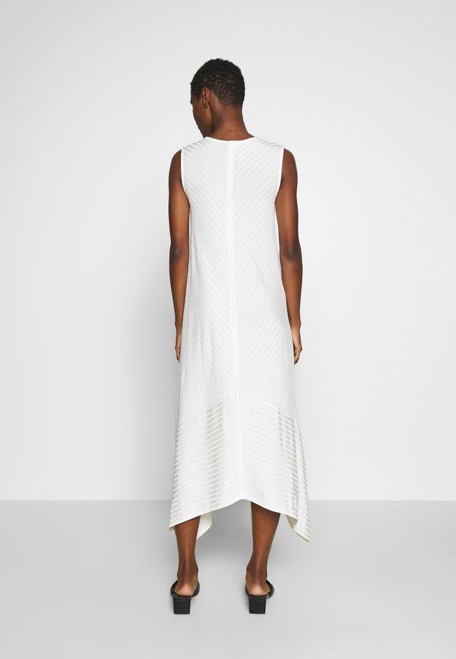 V NECK SLEEVELESS ASYMETRICAL HEM DRESS - Maksimekko - natural white