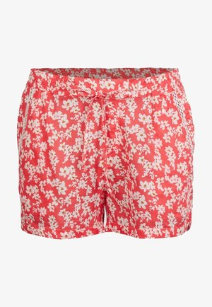 Shorts - red with pink or purple