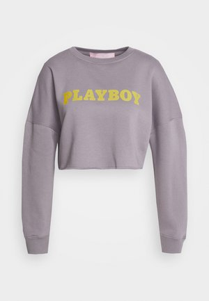 PLAYBOY LOGO CROP - Sudadera - charcoal