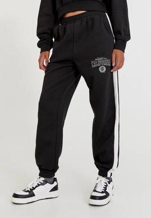 COLLEGE MIT STREIFEN - Pantaloni sportivi - mottled black