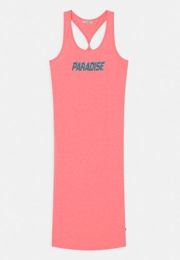 TEEN GIRLS - Žerzejové šaty - neon coral