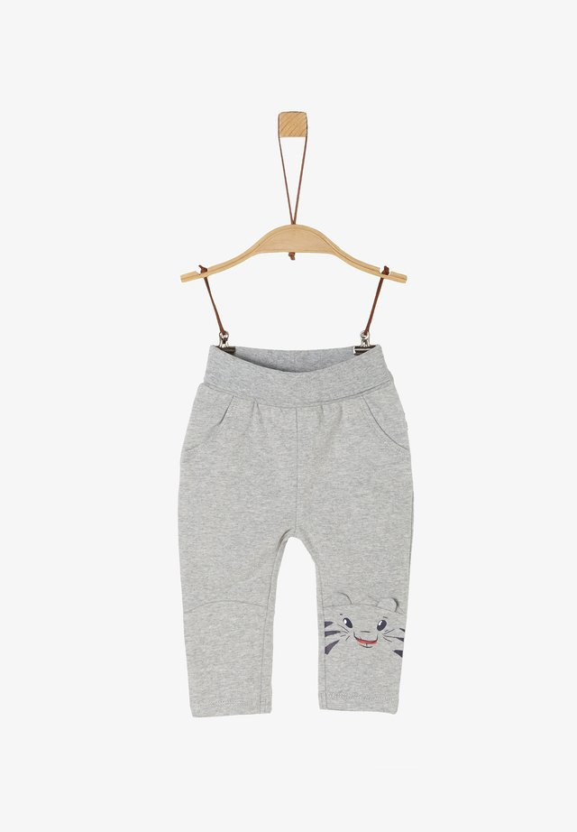 MIT TIGER-ARTWORK - Trousers - grey melange