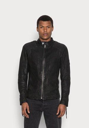 NERO BUFFED - Leather jacket - black