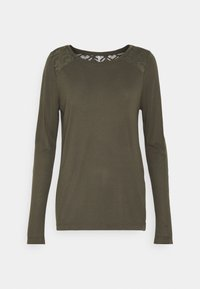 ONLY Tall - ONLNICOLE LIFE NEW MIX - Long sleeved top - dark green - 0