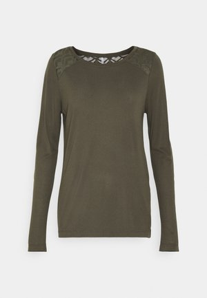 ONLNICOLE LIFE NEW MIX - Long sleeved top - dark green
