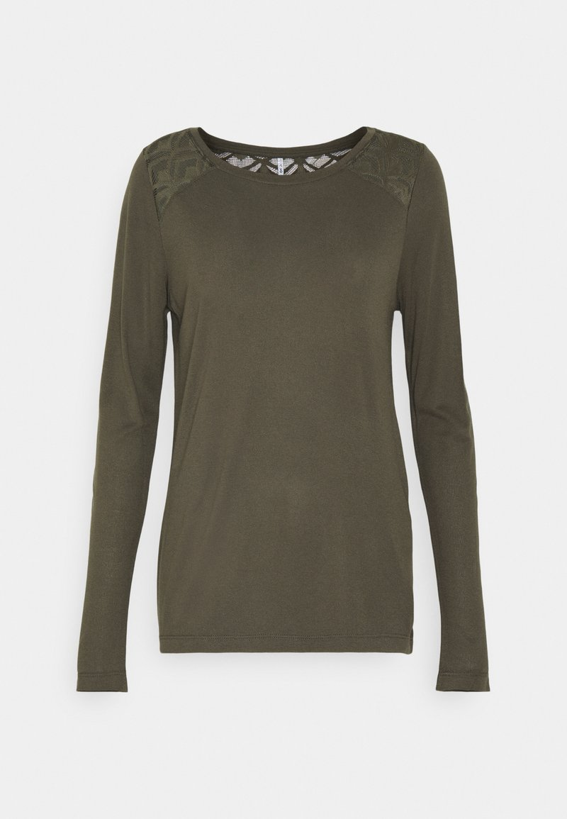 ONLY Tall - ONLNICOLE LIFE NEW MIX - Long sleeved top - dark green