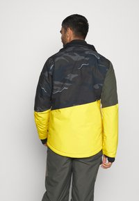 Brunotti - IDAHO MENS SNOWJACKET - Snowboardová bunda - cyber yellow - 3