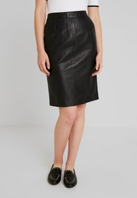 Oakwood - ENORA - Pouzdrová sukně - black - 0