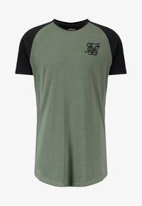 SIKSILK - RAGLAN GYM TEE - T-shirt print - khaki & black - 5