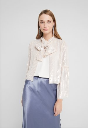 GLOSS BOW JACKET  - Lehká bunda - pearl rose