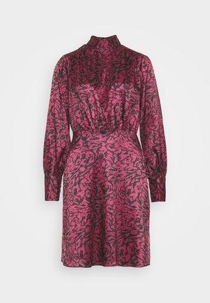 BOW DRESS - Robe de soirée - maroon