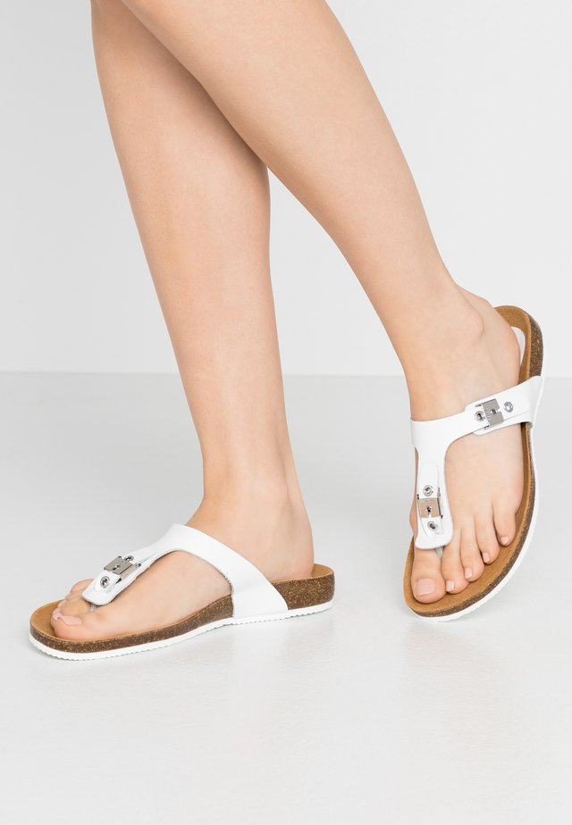 BIMINOIS - T-bar sandals - blanc