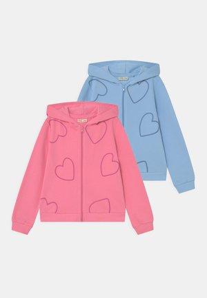 KID FULL ZIP WITH HOOD 2 PACK - Sweater met rits - ballad blue/morning glory