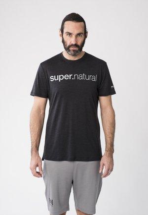 MERINO T-SHIRT M SIGNATURE TEE - Print T-shirt - schwarz