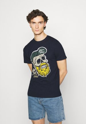 JORSKULLING TEE CREW NECK - T-shirt imprimé - navy
