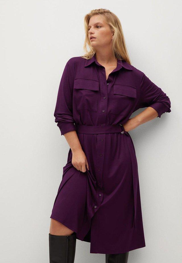 SAHARA - Robe chemise - bordeaux