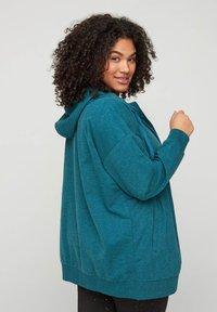 Zizzi - Zip-up hoodie - green - 2