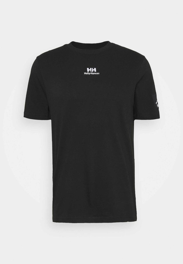 TWIN LOGO  - T-shirt basic - black