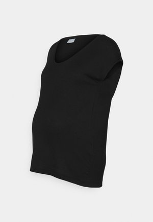 PCMBILLO TEE SOLID - Basic T-shirt - black
