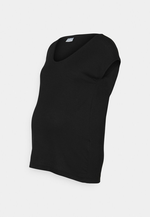 PCMBILLO TEE SOLID - Jednoduché triko - black