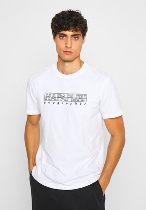 SEBEL - Camiseta estampada - bright white