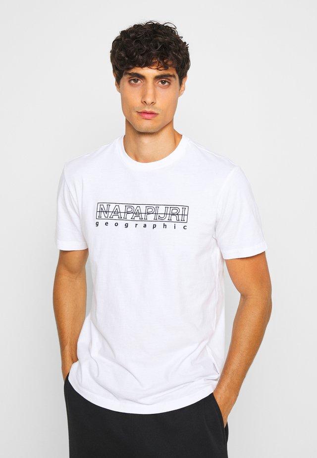 SEBEL - Printtipaita - bright white