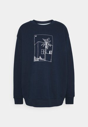 GRAPHIC CREW - Sweatshirts - collegiate navy