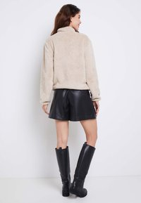 ONLY - ONLDALINA ZIP - Sweat polaire - pumice stone - 3