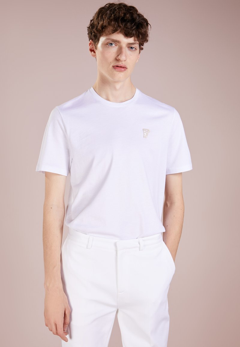 Versace Collection - T-shirt - bas - bianco/oro