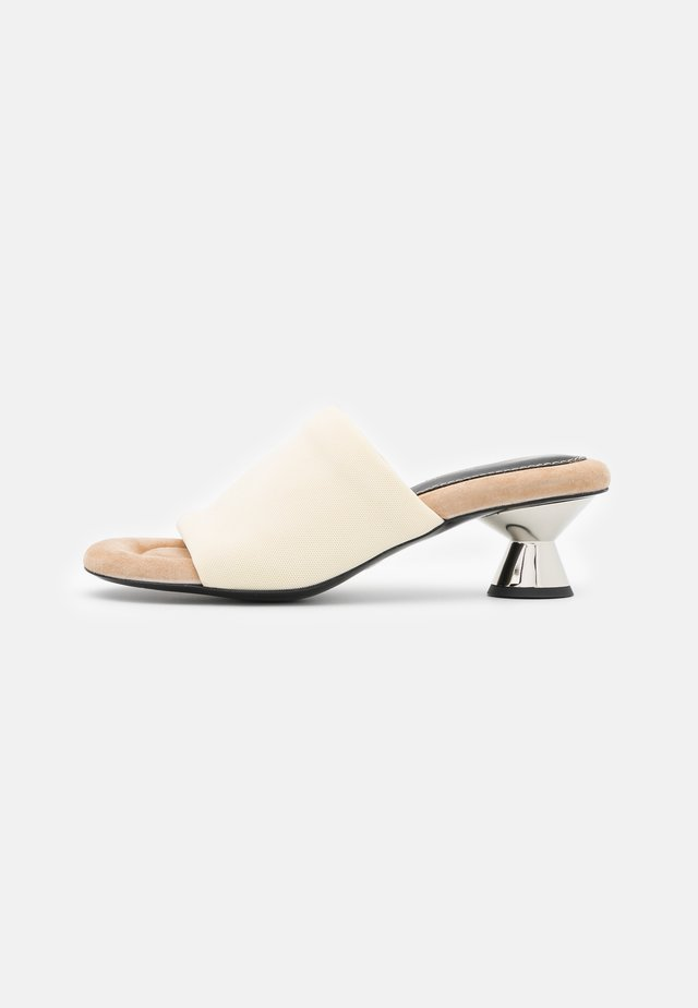 VASE - Heeled mules - cream