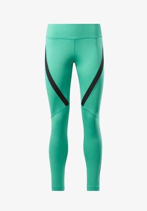 WORKOUT READY VECTOR LEGGINGS - Leggings - green